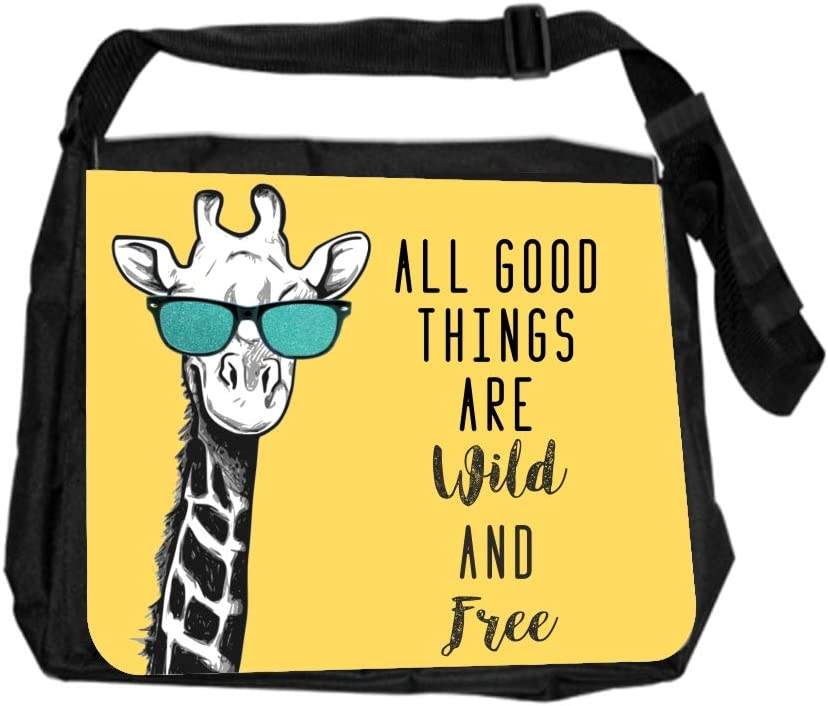 Animal Giraffe Cute Cross Body Shoulder Messenger Laptop Bag