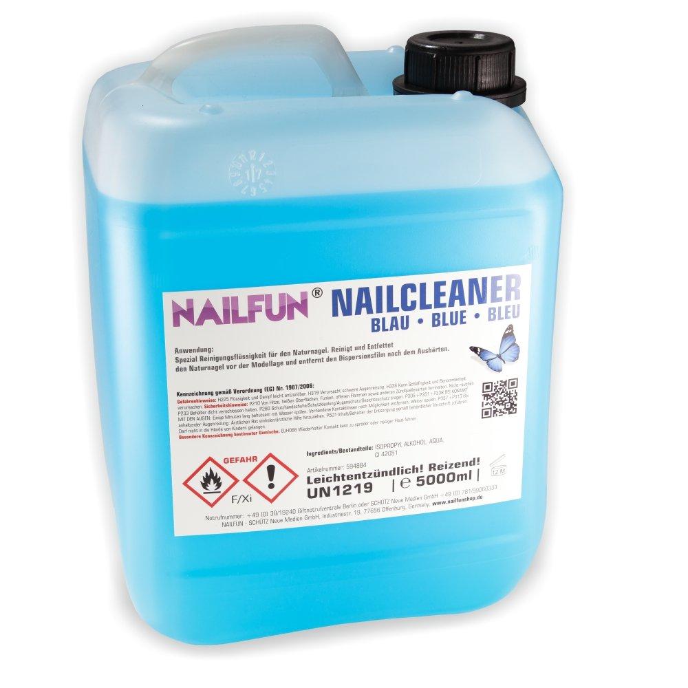 5 Liter Nail Cleaner BLAU im Kanister - 5000 ml Nailcleaner NAILFUN ®