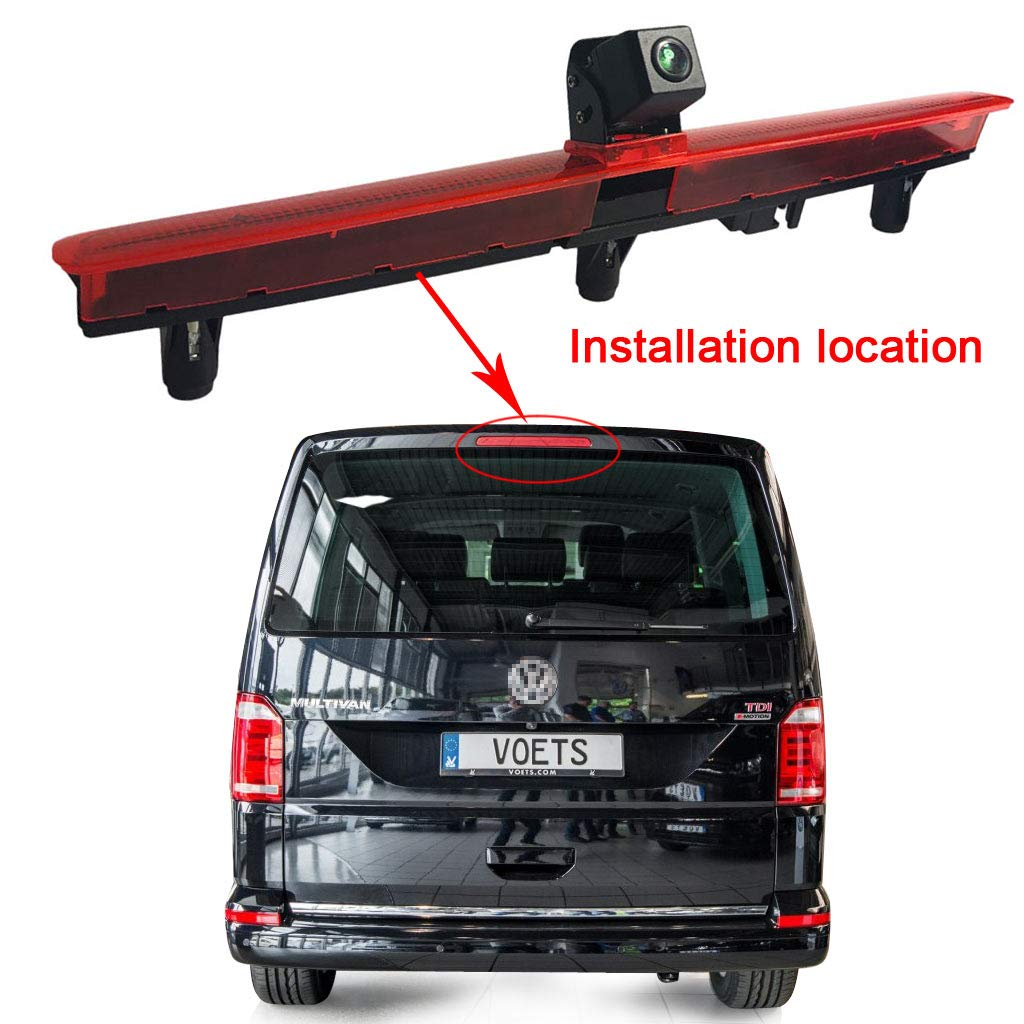 4.3 Zoll Display Monitor Einparkhilfe R/ückfahrsystem f/ür VW T5 Bus Transporter Multivan Caravelle 2003-2015 Bj Top Mount Bremsleuchte Kamera Bremslicht R/ückfahrkamera