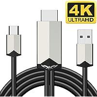 「2019最新版」Carantee USB Type-C HDMI ケーブル 4K HDMI テレビ変換ケーブル Digital AVアダプタ 高解像度 設定不要 充電しながら使える 画面と音声同時出力 高耐久性 MacBook/ChromeBook/Matebook/HUAWEI/Galaxy対応