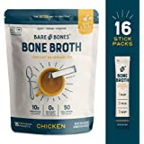 Bare Bones Bone Broth Instant Powdered Beverage Mix, Chicken, 10g Protein, Keto & Paleo Friendly, 0.53oz, Pack of 16 Servings