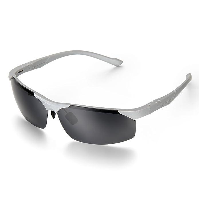 Aroncent Polarisierter Sport Herren Sonnenbrille für Ski Fahren Golf Laufen Radsport Superleichtes Rahmen Design, Braun