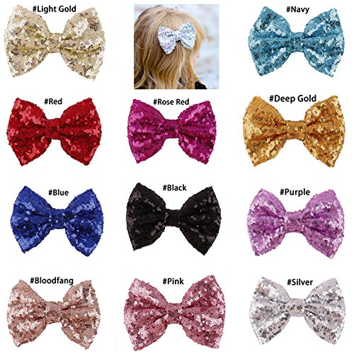 - Casualfashion Pack of 6 Boutique Baby Girl Hair Bows Clips Hairpins Girl's Butterfly Barrette Headware Accessories