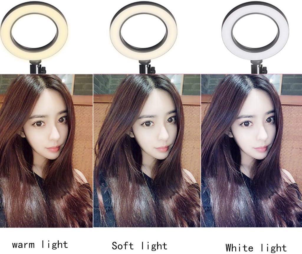 Accessory Kits LED Ring Light Mobile Live Tripod Multi-Function self-Timer Tripod Light Photography Bracket Color : Black, Size : 58cm