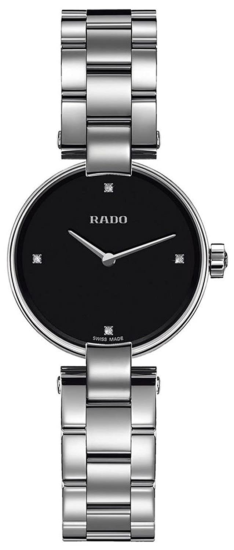 Rado r22854703腕時計Coupole Ladies – Black DialステンレススチールCase Quartz Movement B00MYAC65Q