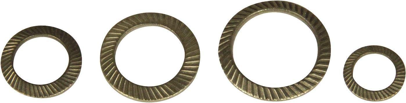 SCHNORR-Sicherungsscheiben Typ S M10 Edelstahl A2 10 St/ück Schnorrscheiben Sicherungsscheibe