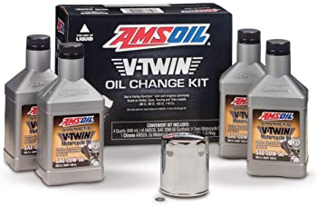 1. AMSOIL VTWIN Oil Change KIT 20W50 Full Synthetic Motorcycle Oil 4QTS + Filter