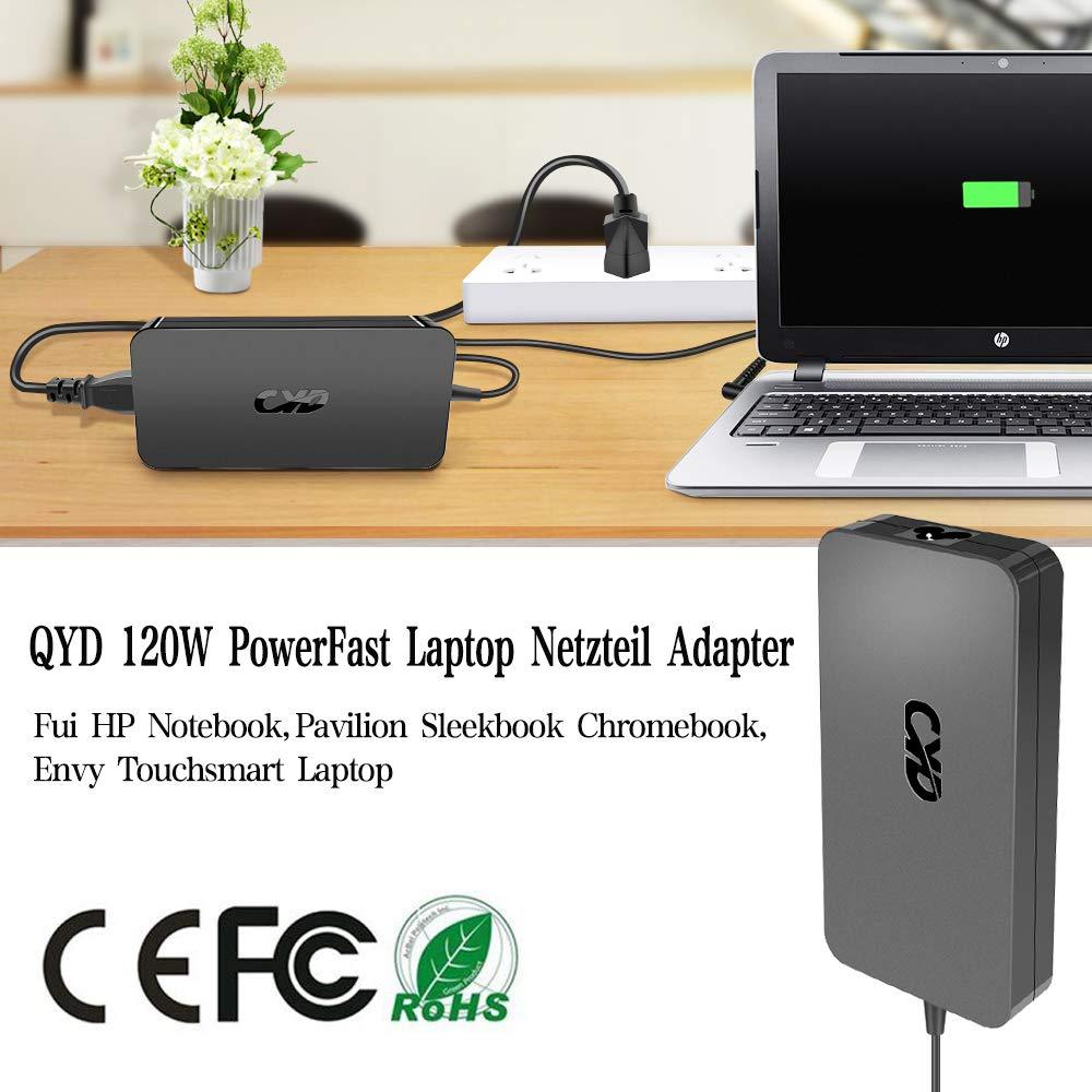 QYD 120W 19.5V 6.15A Cargador Portatil Notebook Adaptador para HP ...
