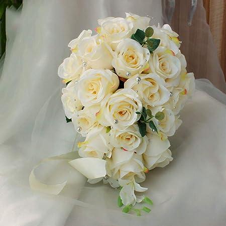 Bouquet A Cascata Sposa.Wedding Cascata Bouquet Da Sposa Bouquet Da Sposa Romantica Per
