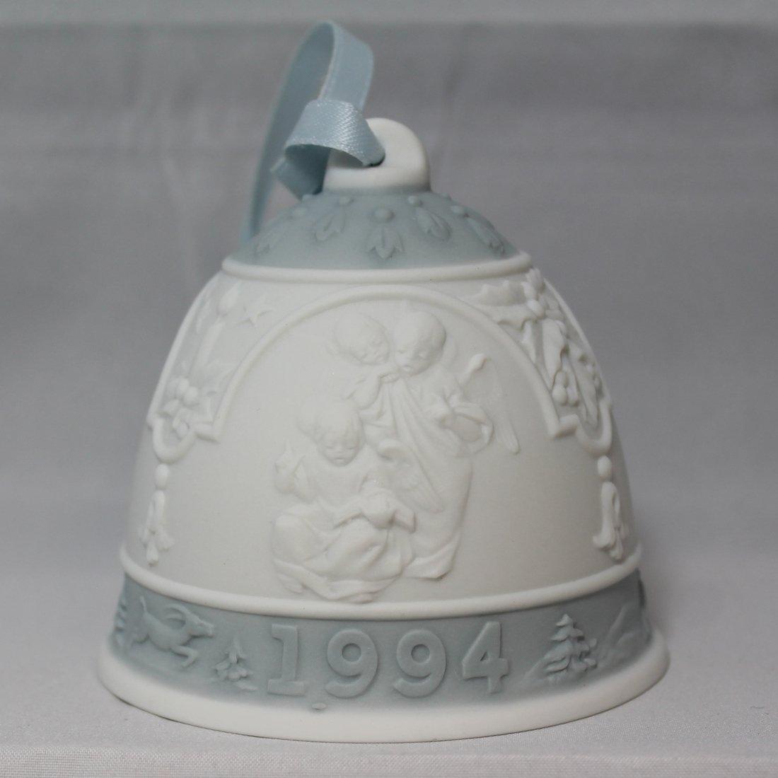 1994 Lladro Christmas Bell Campana Navidad #16139 Angels with Musical Instruments