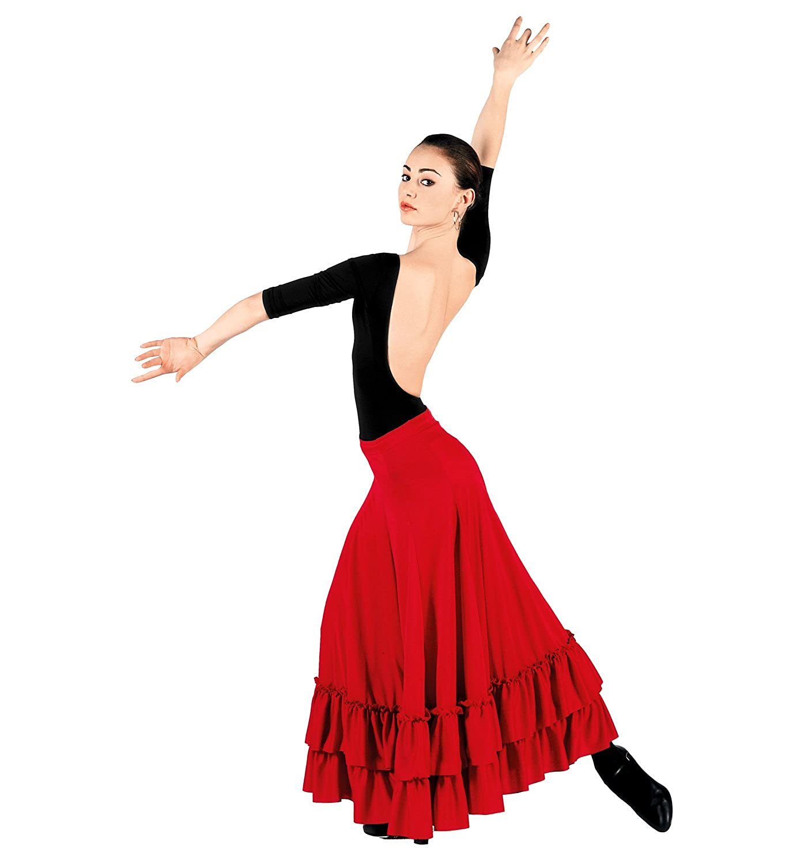 Bal Togs Falda de flamenco para adultos para mujer Medio Rojo ...