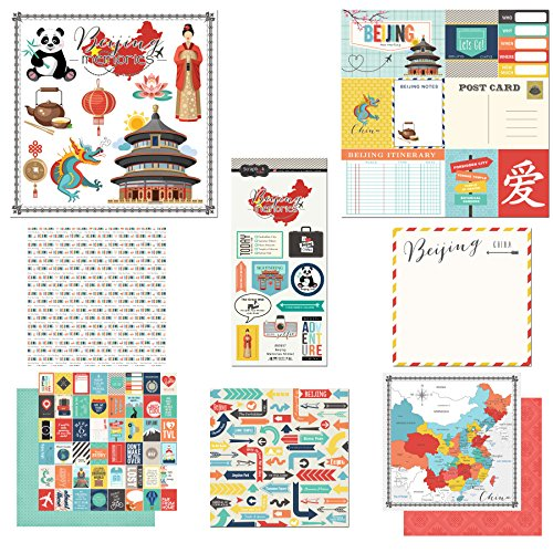 Scrapbook Customs Themed Paper and Stickers Scrapbook Kit, Beijing City Memories