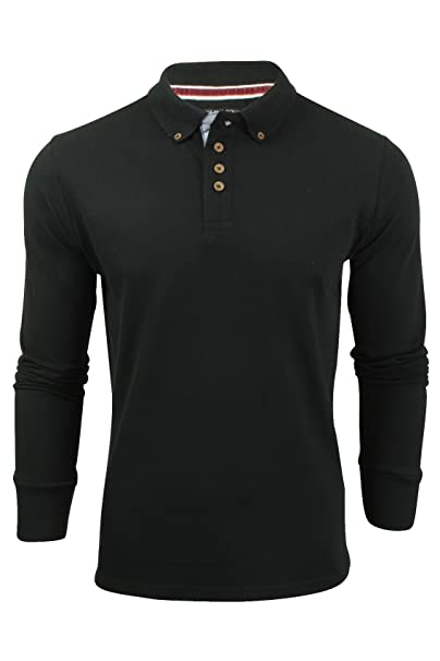 6aab75d99df Brave Soul Mens Lincoln Cotton Polo T Shirt Long Sleeve Pique Casual Golf  Top  Amazon.co.uk  Clothing