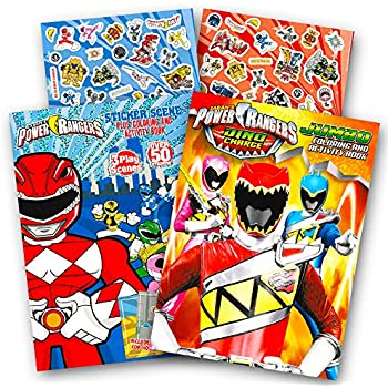 Amazon.com: Power Rangers Coloring Book Super Set -- 2 Coloring and ...