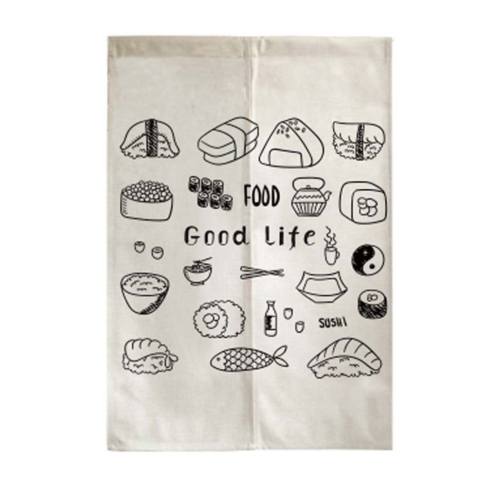 George Jimmy Delicate Door Curtain Japanese Restaurant Kitchen Curtain Hotel Sushi Bar Decoration, 09 by George Jimmy
