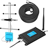 AT&T Phone Booster Home 4G Cell Phone Signal Booster LTE 700MHz Band 12/17 Mobile Signal Repeater Amplifier Antenna Kits for