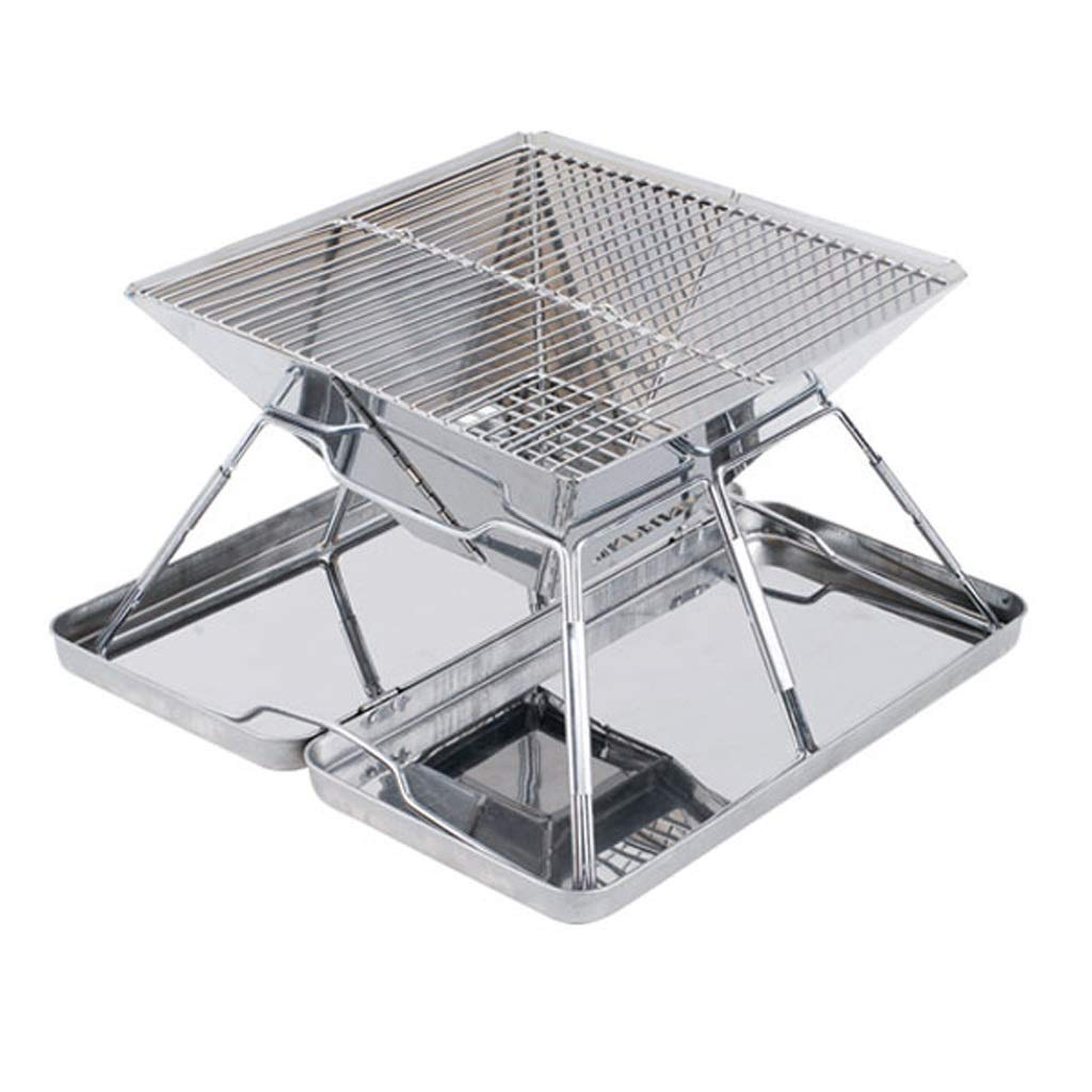 MEI XU Barbecue Grill BBQ Grill - Stainless Steel Grill Outdoor Large Charcoal Grill Thickened Portable Household Barbecue Package 2-5 People use