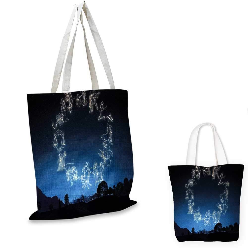 AstrologySketchy オンブレナイトダークスカイの星座ドットプリント ダークブルーとホワイト 12