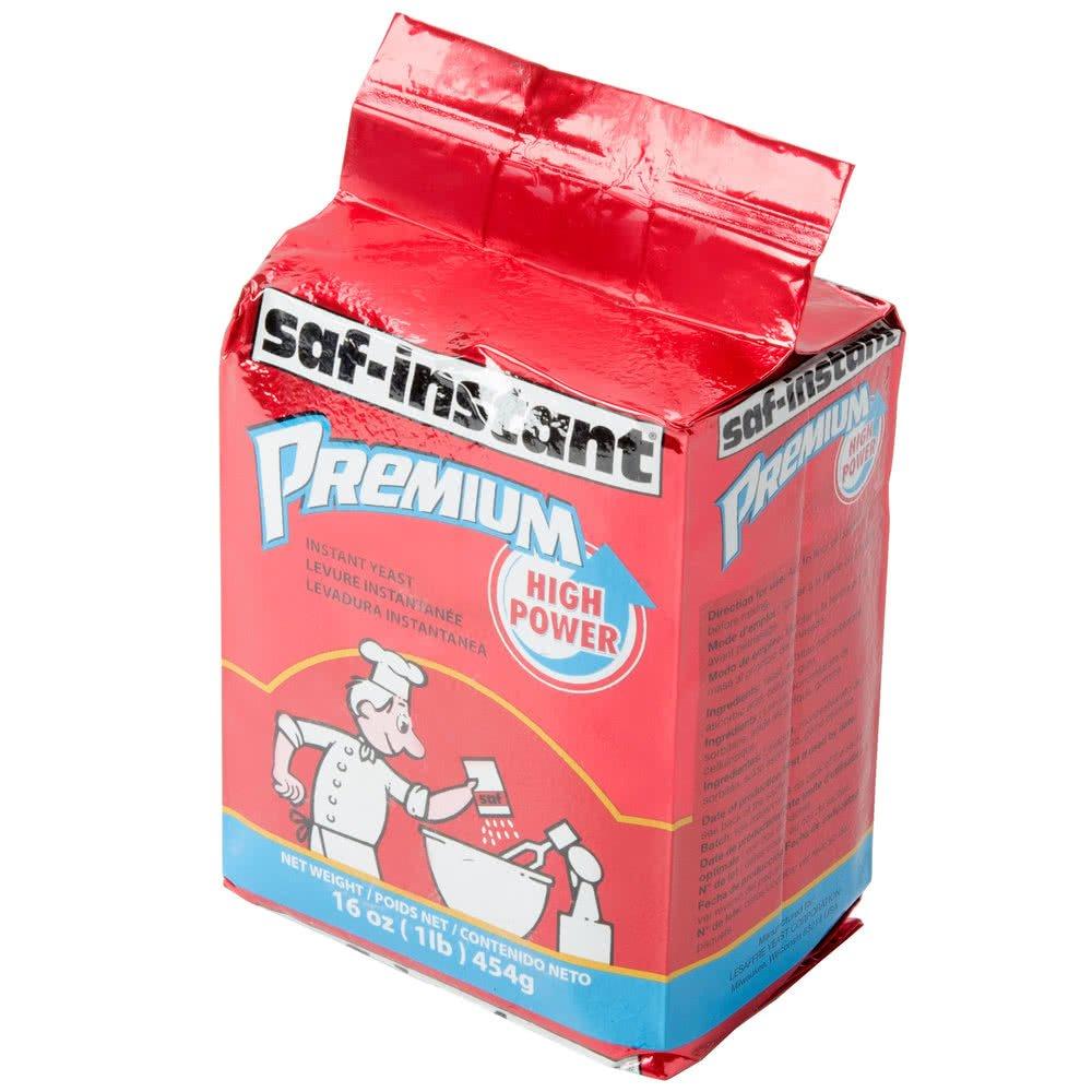 TableTop King Lesaffre SAF-Instant Premium Yeast 1 lb. Vacuum Pack - 20/Case