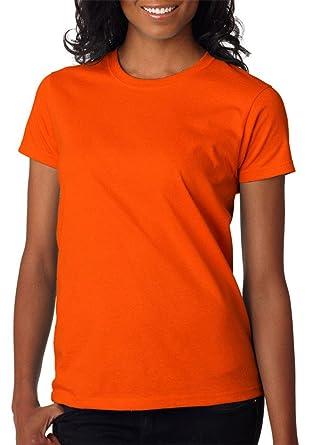 Cotton Orange Womens Amazon Ultra At Gildan T Women's Clothing Shirt wnO0Pk