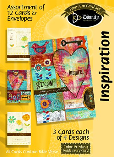 Divinity Boutique Greeting Card Assortment: Inspiration, Simplistic Birdies with Scripture (21701N) (Birdie Greeting Cards)