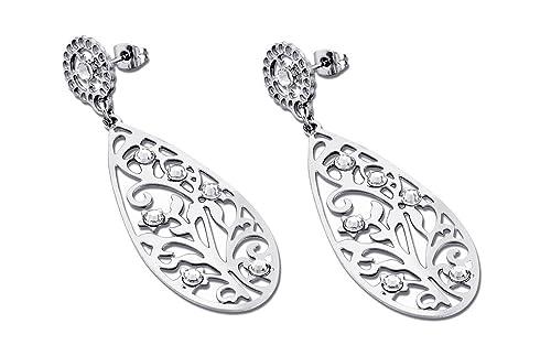 Lotus Style para mujer joyas pendientes de aro pendientes de ...