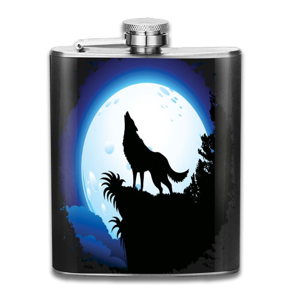 大人気新品 jf-x Wolf Wolf B07CV4V9H8 Blue MoonステンレススチールヒップフラスコPersonalised Liquor WiskeyワインポットFlagon Liquor (7oz) B07CV4V9H8, 虫退治:171fa7f9 --- a0267596.xsph.ru