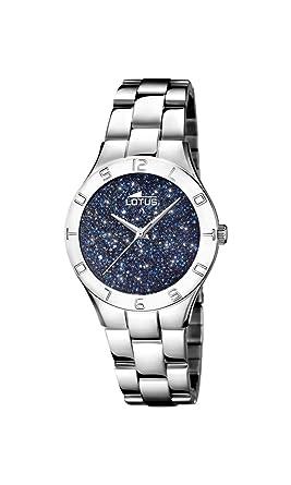 Lotus Watches Reloj Análogo clásico para Mujer de Cuarzo con Correa en Acero Inoxidable 18568/2: Amazon.es: Relojes