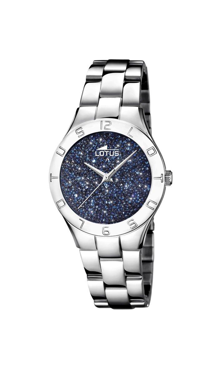 Lotus Watches Reloj Análogo clásico para Mujer de Cuarzo con Correa en Acero Inoxidable 18568/