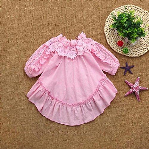 15f0e1630e Winsummer Baby Little Girl White Long Dress Lace Off Shoulder Wedding Party  Dress Slip Sundress