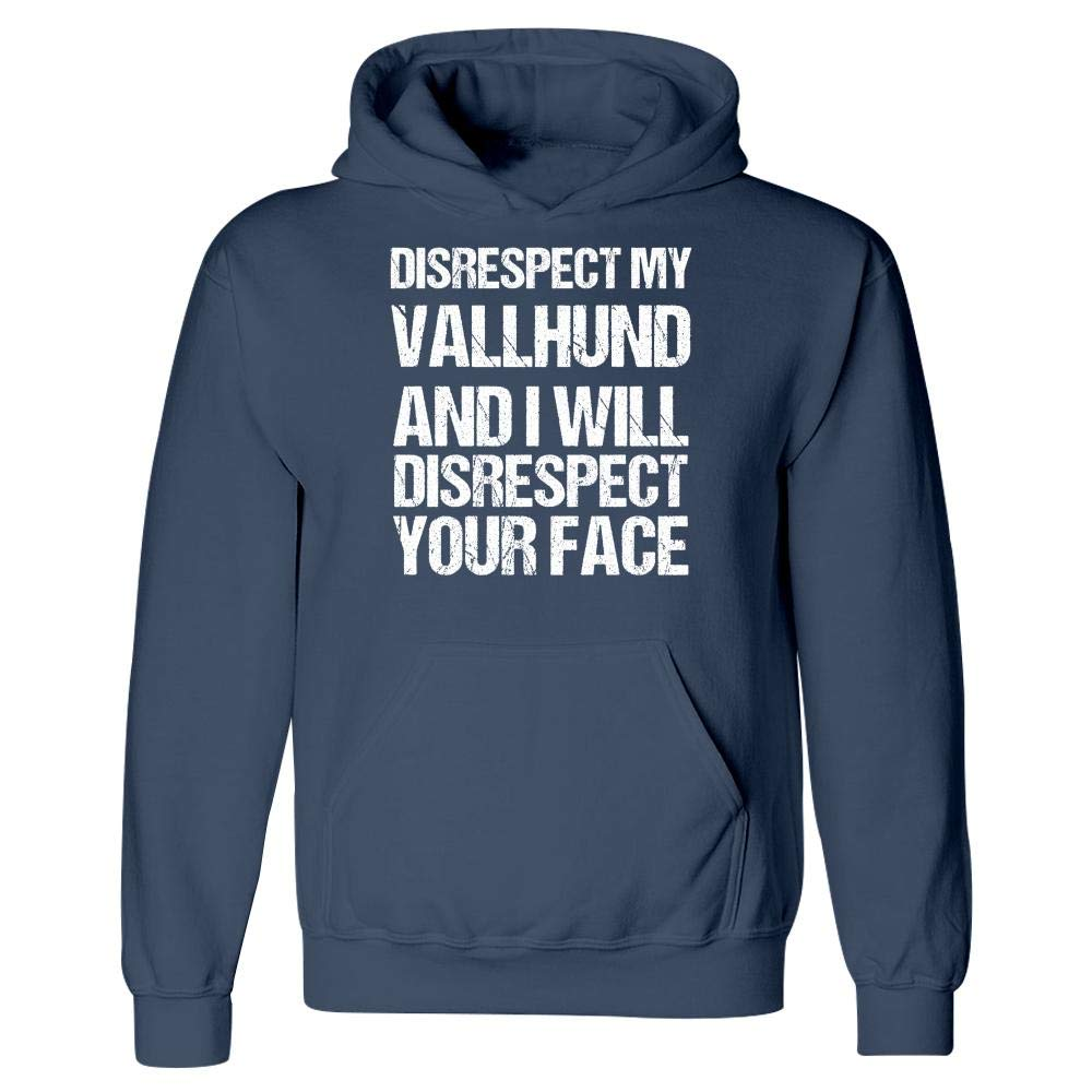 MESS Disrespect My Vallhund I Disrespect Your Face Hoodie
