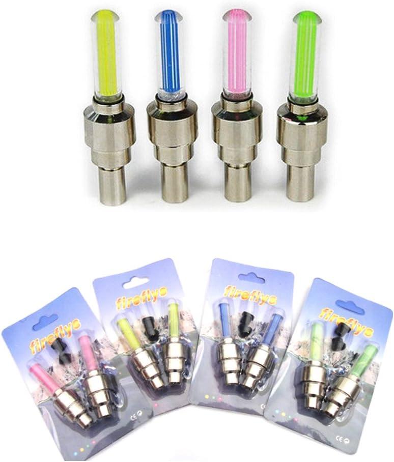 Vimmor Lot de 8/bouchons de valve LED lumineux pour roue de v/élo