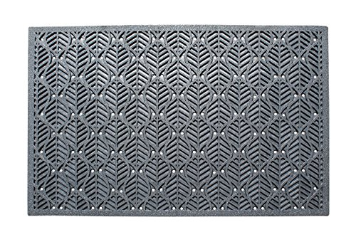 A1HC Leaf Pattern 100% Rubber Highly Durable Large Doormat I Commercial Doormat I 24X36 by A1 Home Collections