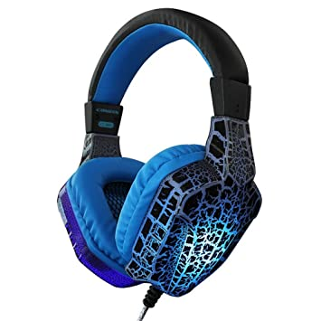 HTACSA Stereo Pc Game Earphone, Micrófono, Reducción De Ruido Earmuff Game Auricular con Soft Memory Earmuff para Notebook Mac Nintendo Switch Juegos Xbox ...