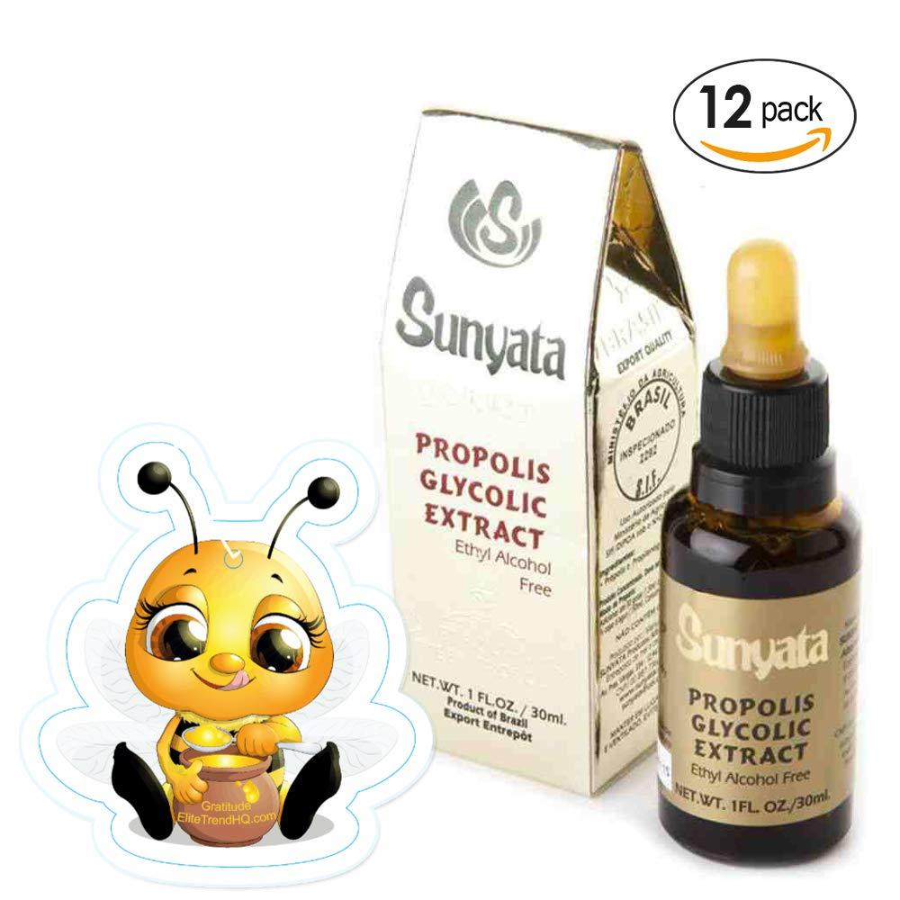 Bee Propolis - Glycolic - Green Brazilian Propolis by Sunyata (GOLD) - 12 X 30 ml