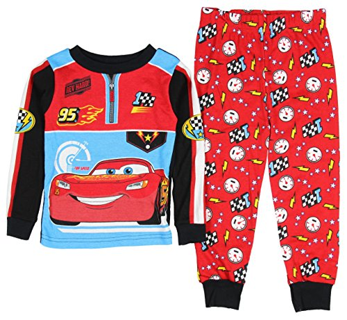 AME Sleepwear Disney Pixar Cars Little Boys Toddler Long sleeve Cotton Pajama Set - Marketplace Outlets At The