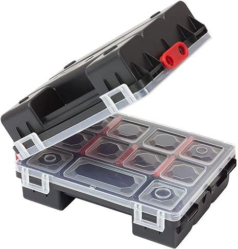 Caja de herramientas, 2 unidades, organizador, caja de tornillos, caja para piezas pequeñas: Amazon.es: Bricolaje y herramientas