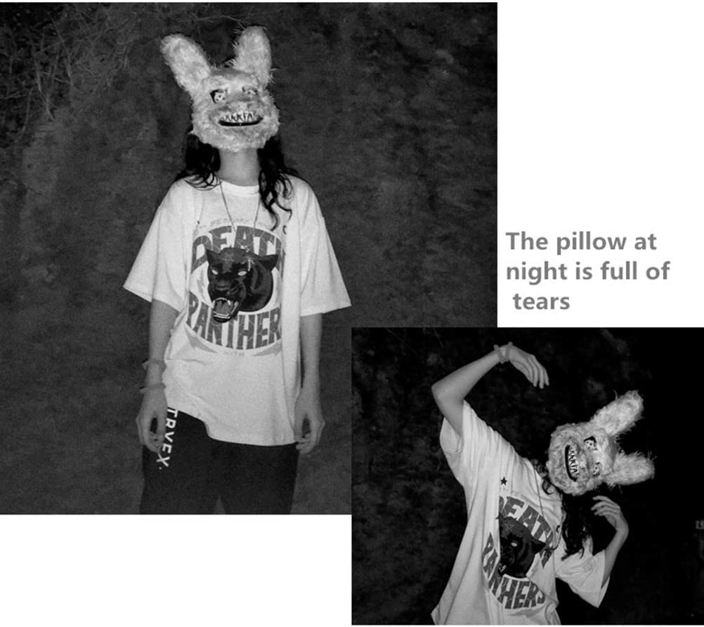 Maschera di coniglio sanguinante malvagio Maschere horror di Halloween Festa in maschera Maschera Cosplay Maschera ingannevole Bambini per Gioca Festa di Halloween Cosplay Maschere di Halloween