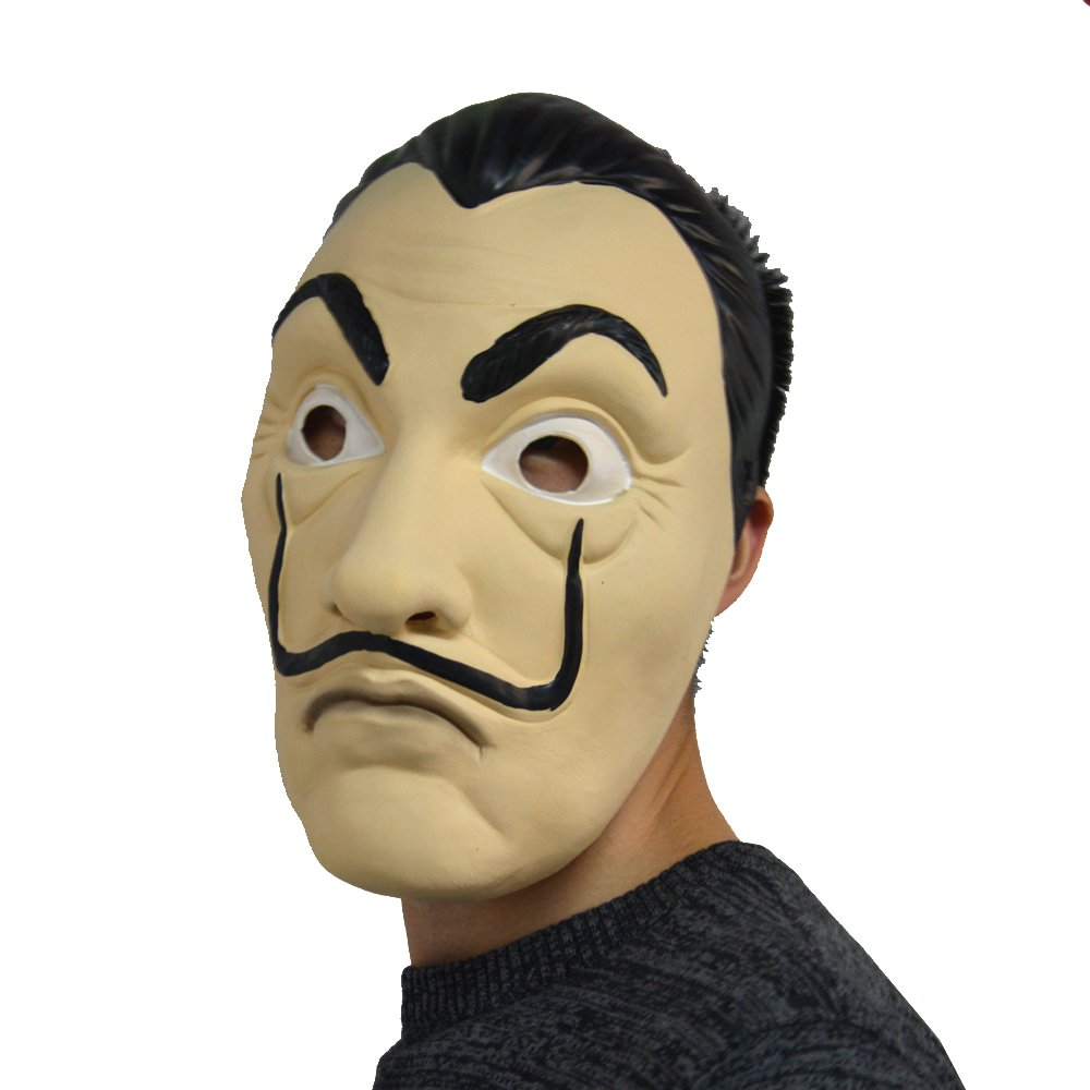 Amazon.com: Dali Mask Salvador LA CASA De Papel | Money Heist | Realistic Movie Prop Face Mask: Clothing