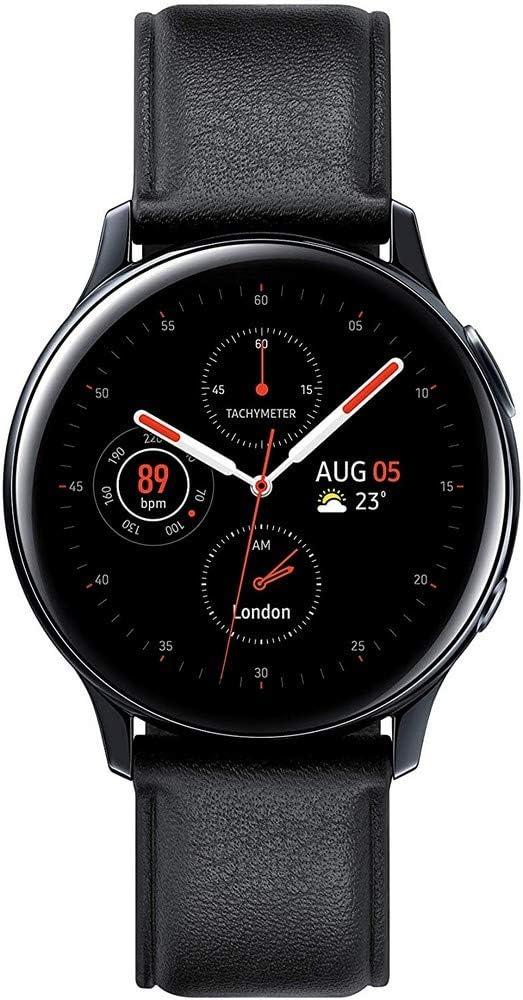 SAMSUNG SM-R820NSSAPHE Galaxy Watch Active 2 - Smartwatch de Acero, 44mm, Bluetooth, Versión española, color Negro
