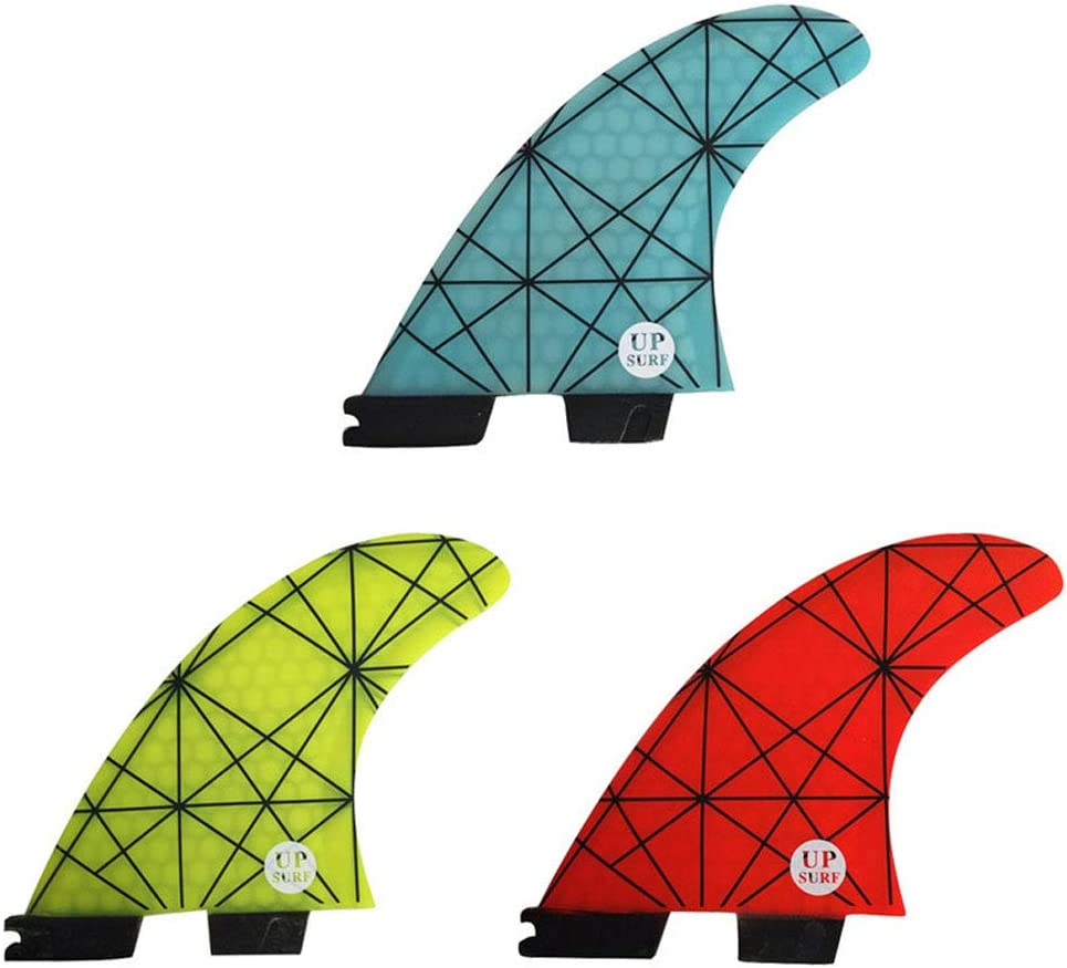 elegantstunning F-CS-II G5 Tri Fin Set D/érives en nid dabeille en nid dabeille F-CS 2 Fin F-CS II Fin Quilhas Bleu G7