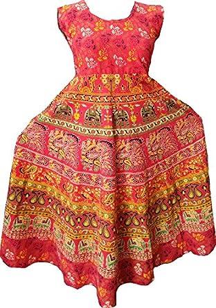 d8133a0b69f Jaipur Prints Women's Dress (Mididress55_Multi_Free Size): Amazon.in ...