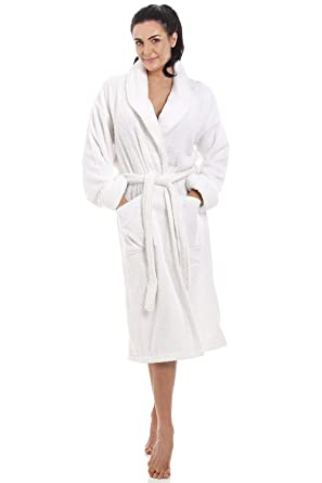 Camille Womens White 100% Cotton Towelling Bath Robe  Camille  Amazon.co.uk   Clothing 25e96b7b0