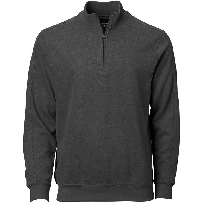 Greg Norman mens Contemporary 1/4 Zip Pullover, Black Heather, Small