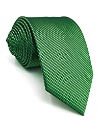 SHLAX&WING Solid Color Green Necktie for Men Business Wedding New Tie Classic 57.5""