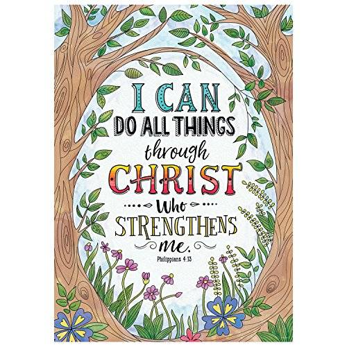 Religious Poster (Creative Teaching Press Wall Décor, Religious Philippians 4:13 Rejoice Inspire U Poster (2311))
