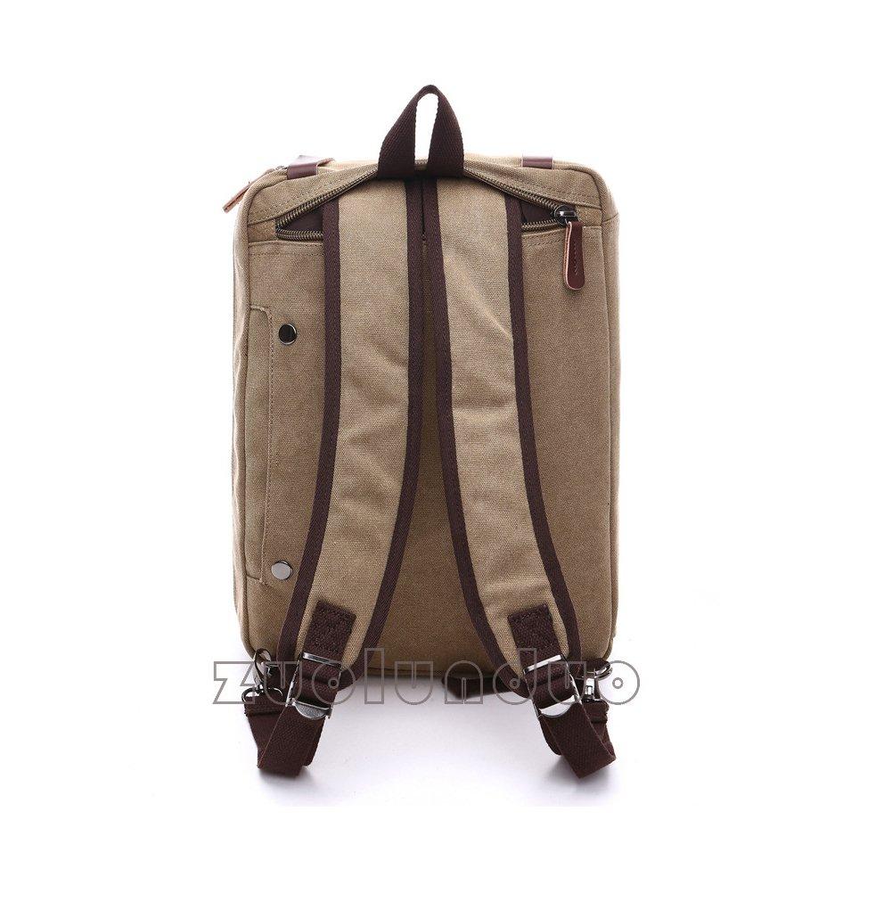 DeLamode Men Travel Luggage Canvas Bag Capacity Briefcase Portable Messenger Backpacks Grey