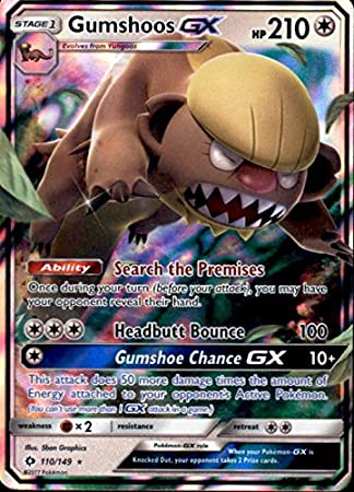 Amazon.com: gumshoos-gx – 110/149 – Ultra Rare – Pokemon Sun ...