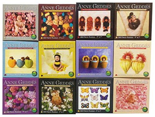 Anne Geddes Baby Photography Flower & Animal Nature Miniature Puzzle Collection 100 Piece Jigsaw Puzzle 9