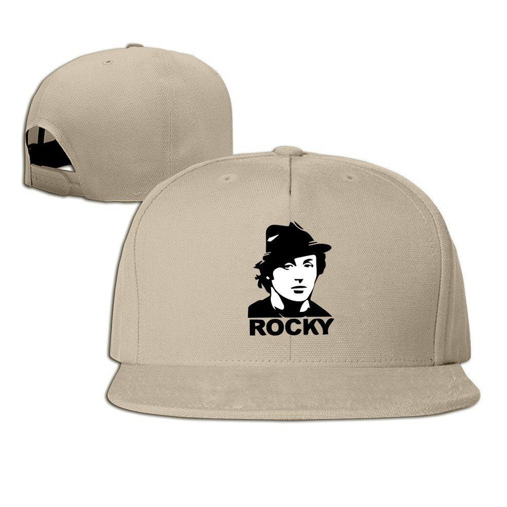 Yhsuk 1976 Sports Boxing Action Movie Classic Rocky Balboa Image Unisex Fashion Cool Adjustable Snapback Baseball Cap Hat One Size Natural